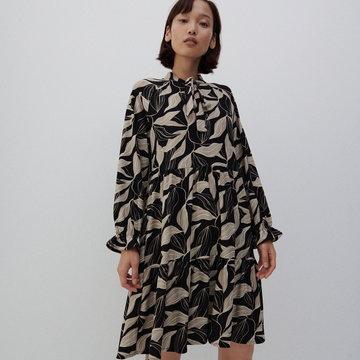 Reserved - Dzianinowa sukienka mini - Wielobarwny