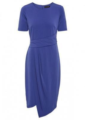 Sukienka z dżerseju bonprix błękit królewski