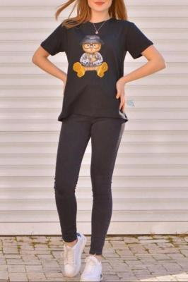 T-shirt damski GAMONDA BLACK