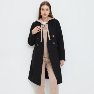 Mohito - Dwurzędowy płaszcz - Czarny