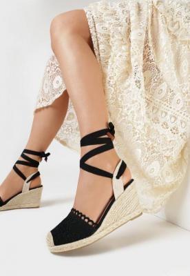 Czarne Sandały Salethe