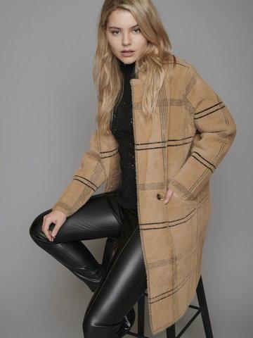Dzianinowy płaszcz w kratkę Rino & Pelle Madina