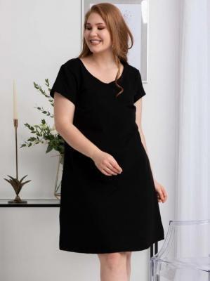 Sukienka dresowa trapezowa wygodna HANA LETNIA czarna