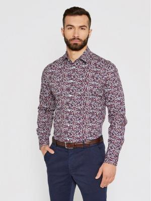 Tommy Hilfiger Tailored Koszula Floral Print MW0MW16465 Kolorowy Regular Fit