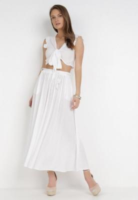 Biała Spódnica Naguna