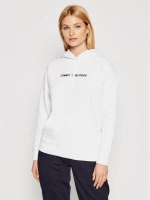 Tommy Hilfiger Bluza Graphic Hoodie Ls S10S100980 Biały Relaxed Fit