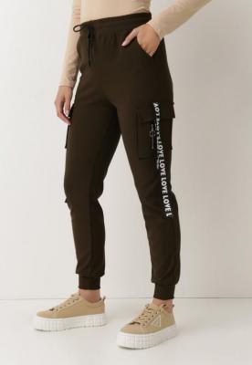 Ciemnozielone Spodnie Dresowe Checenedl