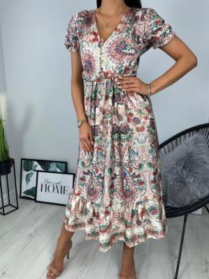 Wzorzysta Sukienka Maxi 6292-420