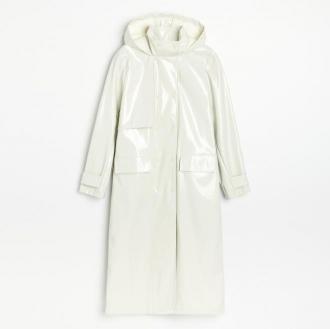 Reserved - Płaszcz ze sztucznej skóry - Zielony