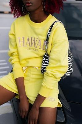 BLUZA HAWAII - YELLOW - XS-S