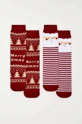 2 pack skarpet świątecznych