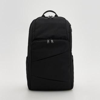 Reserved - Plecak z kieszeniami - Czarny