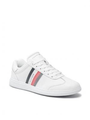 Tommy Hilfiger Sneakersy Core Corporate Leather Cupsole FM0FM03624 Biały