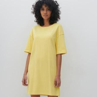 Reserved - Sukienka oversize - Żółty