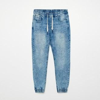 Cropp - Jeansowe joggery - Niebieski