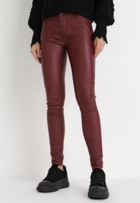 Bordowe Spodnie Skinny Callereia
