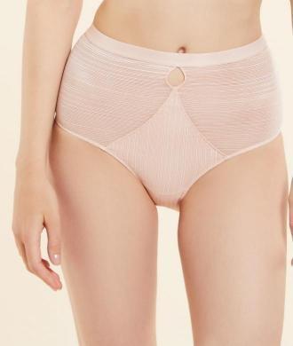 Home Culotte Taille Haute En Dentelle Texturée - Różowy - Etam
