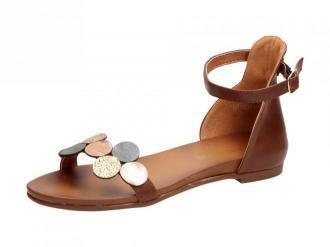 Brązowe sandały damskie M.DASZYŃSKI 1958A-7
