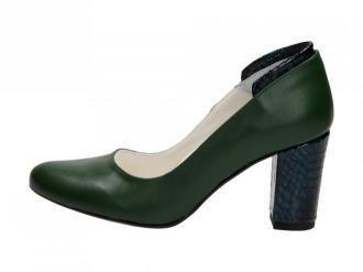 Zielone POLSKIE czółenka damskie SUZANA 4089 L