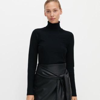 Reserved - Sweter z golfem - Czarny