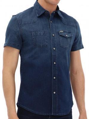 Jeansowa koszula na krótki rękaw Desigual JEAN-LUC