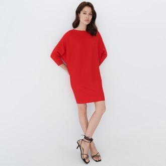 Mohito - Dzianinowa sukienka - Czerwony