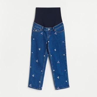 Reserved - Jeansy typu culotte - Niebieski