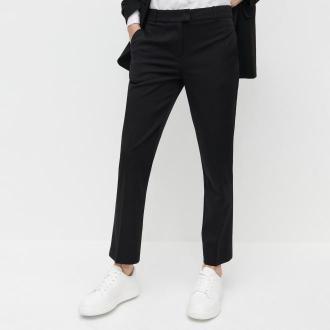 Reserved - Eleganckie spodnie z kantem - Czarny