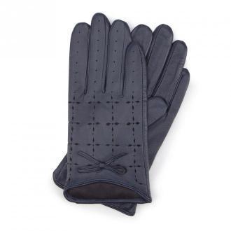Damskie rękawiczki skórzane dziurkowane