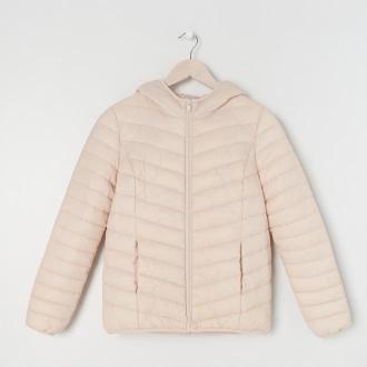 Sinsay - Pikowana kurtka z kapturem ECO AWARE - Kremowy