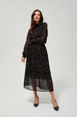 Szyfonowa sukienka ze stójką
