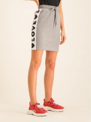 LOVE MOSCHINO Spódnica mini W152401E 2117 Szary Regular Fit