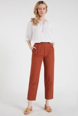 Proste lniane spodnie