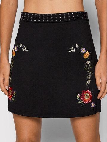 Spódnica mini Inaya 21WWFK03 Czarny Slim Fit