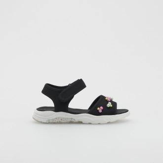 Reserved - Sandały z koralikami - Czarny