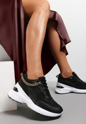 Czarne Sneakersy Metite