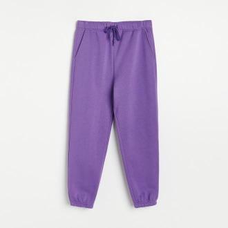 Reserved - Spodnie dresowe z kieszeniami - Fioletowy