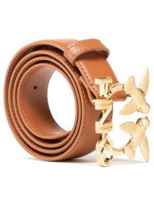 Pinko Pasek Damski Aster Simply Waist Belt PE 21 PLT01 1H20VW Y6XF Brązowy