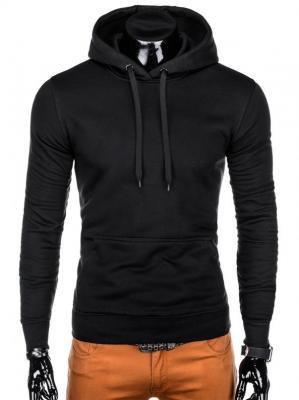 Bluza męska z kapturem 873B - czarna - XXL