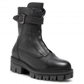 Botki TAMARIS - 1-25421-25  Black Leather 003