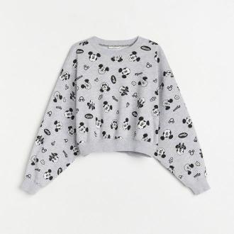 Reserved - Bluza z nadrukiem - Jasny szary