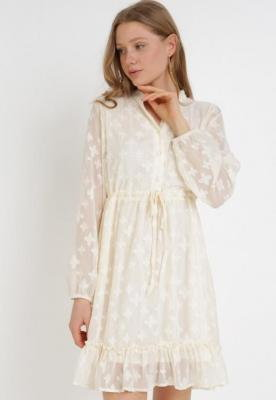 Kremowa Sukienka Acalisa
