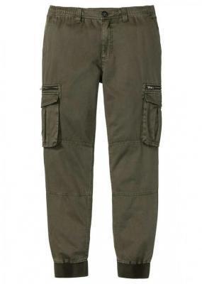 """Spodnie """"bojówki"""" Regular Fit Straight bonprix ciemnooliwkowy"""