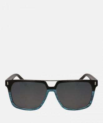 Niebiesko czarne okulary przeciwsłoneczne