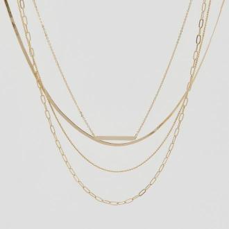 Reserved - Naszyjnik z kilkoma łańcuszkami - Złoty