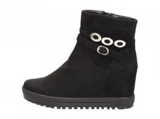 Czarne botki damskie sneakersy FILIPPO DBT1122