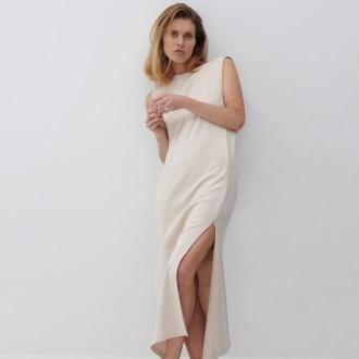 Reserved - Sukienka z bawełny organicznej - Beżowy