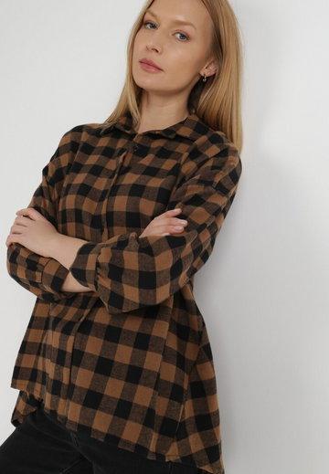 Czarno-Beżowa Koszula Verephise