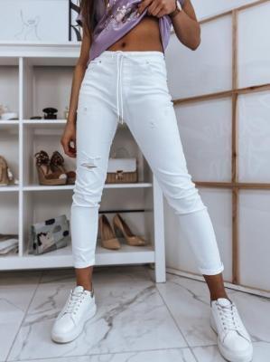 Spodnie damskie DESTY białe Dstreet UY0844
