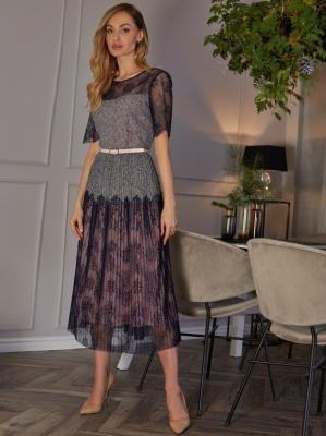 Koronkowa sukienka z plisami Potis & Verso PLISADO